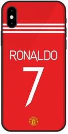 Ronaldo Manchester United hoesje iPhone X backcover softcase
