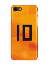 Oranje rugnummer hoesje iPhone 8