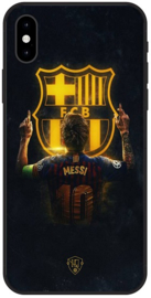 Messi FC Barcelona logo hoesje iPhone X softcase