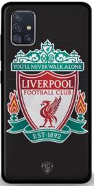 Liverpool logo hoesje zwart Samsung Galaxy A51 softcase