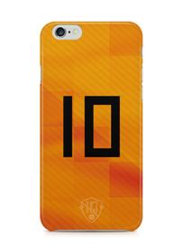 Oranje rugnummer hoesje iPhone 6 / 6s