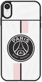 PSG uitshirt telefoonhoesje iPhone Xr wit roze softcase