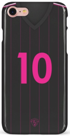 Zwart Roze rugnummer 10 hoesje iPhone 7 / 8 / Se (2020) softcase