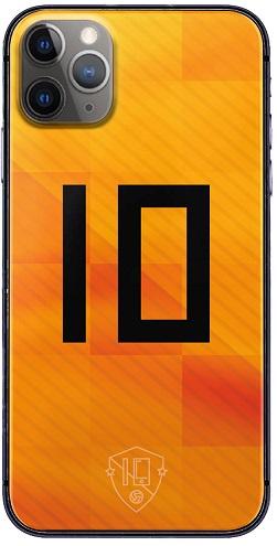 Oranje rugnummer 10 telefoonhoesje iPhone 11 Pro Max softcase