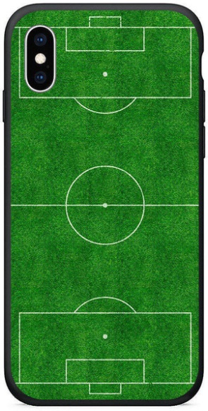 Voetbalveld hoesje iPhone Xr softcase