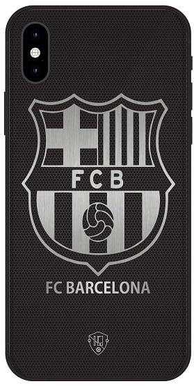 FC Barcelona telefoonhoesje iPhone Xs Max backcover zwart