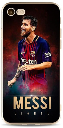 Messi FC Barcelona hoesje iPhone 7 softcase