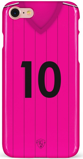 Roze shirt voetbal hoesje iPhone softcase