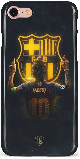 Messi FC Barcelona logo hoesje iPhone 6 / 6s softcase