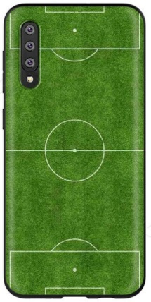 Voetbalveld hoesje Samsung Galaxy A50 softcase