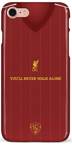 Liverpool shirt hoesje iPhone 7 / 8 / SE softcase