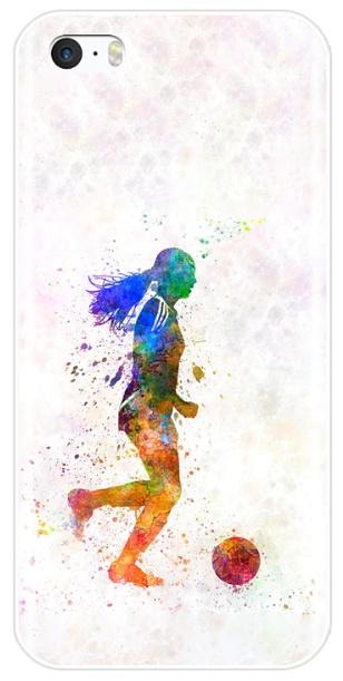 Voetbal meisje telefoonhoesje iPhone 6 / 6s softcase