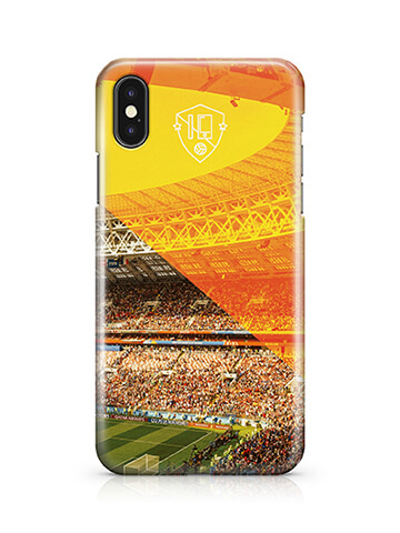 Voetbalstadion hoesje iPhone X softcase