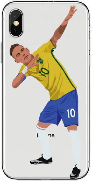 Neymar Brazilië iPhone X telefoonhoesje