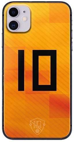 Oranje nummer 10 hoesje iPhone 11 backcover