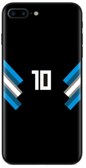 Rugnummer 10 telefoonhoesje iPhone 7 8 Plus TPU Zwart