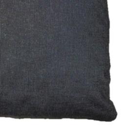 Sierkussen van denim met 2 zakken 40x40 cm