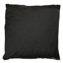 Denim cushion with one big pocket 40x40cm