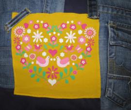Cushion LOVE denim 45x45 cm