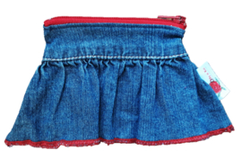 Pouch Denim & Red