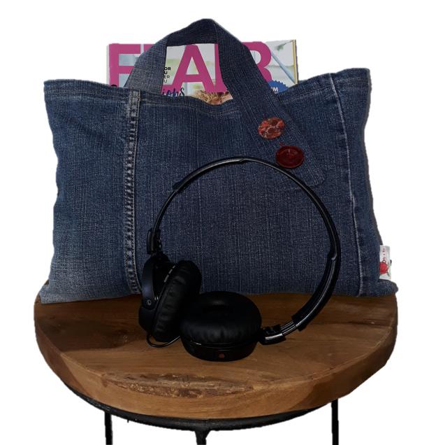 Handbag Flora with big buttons