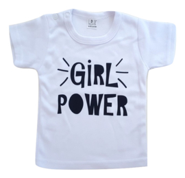 T-shirt - Girl Power (wit)