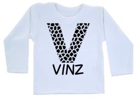 Shirt - Letter + Naam