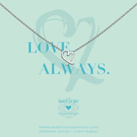Heart to Get - Classic Heart - Ketting - Zilver