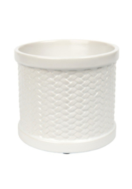 Yankee Candle Scenterpiece Warmer Weave wit met timer