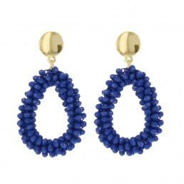 BIBA Oorbellen Beads Gold Blue 80906MIX15