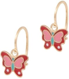 Cataleya Earrings Kids Butterfly Red & Pink