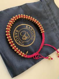 Barong Barong  Lucky Bracelet Roze Goud