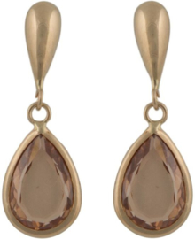 Cataleya Earrings Pear Brown