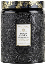 Voluspa Japonica Collection Embossed Glass Large Moso Bamboo