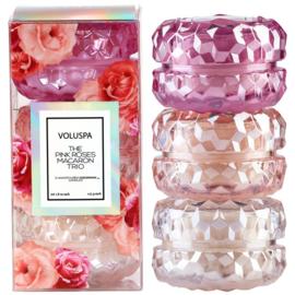 Voluspa The Pink Roses Macaron Trio
