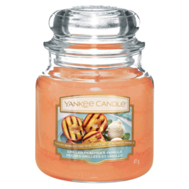 Yankee Candle Medium Jar Grilled Peaches & Vanilla