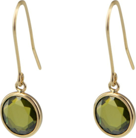 Cataleya Earrings Round Peridoto
