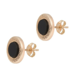 Cataleya Earrings Lucky Circle Black