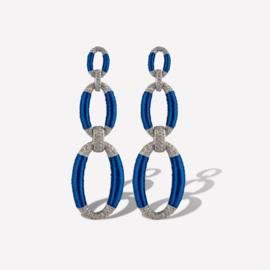 KMO Oorbellen Luna KPEA88390 blue