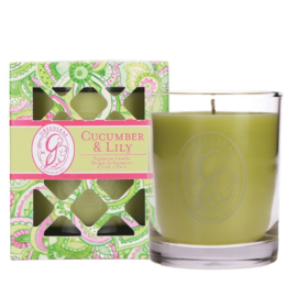 Greenleaf Signature Boxed Candle Cucumber & Lily