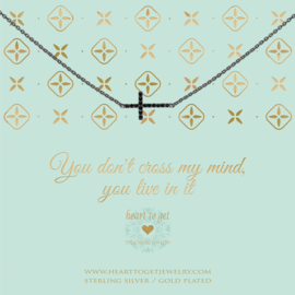 Heart to Get - Black & Beautiful Cross - Ketting - Geoxideerd Zilver