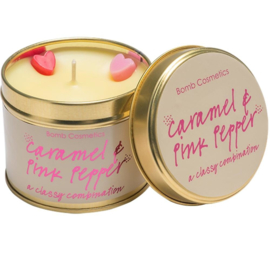 Bomb Cosmetics Tinned Candle Caramel & Pink Pepper