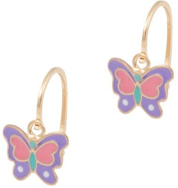 Cataleya Earrings Kids Butterfly Purple & Pink
