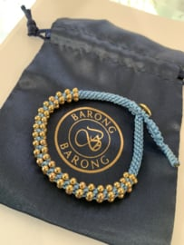Barong Barong  Lucky Bracelet Blauw Goud