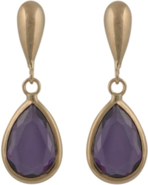 Cataleya Earrings Pear Purple