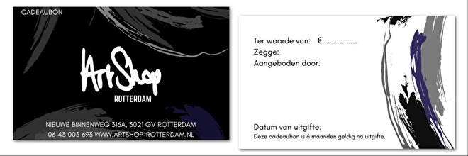 Cadeaubon ArtShop Rotterdam