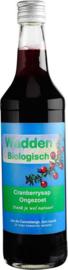Wadden Cranberrysap ongezoet BIO, 675 ml