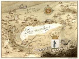 Wrakkenkaart Schiermonnikoog