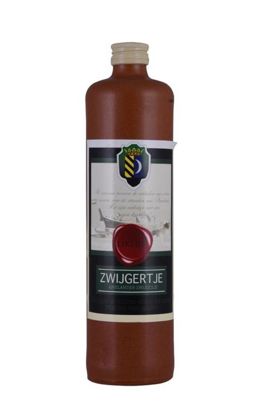 Amelander Zwijgertje likeur, kruik 700 ml.