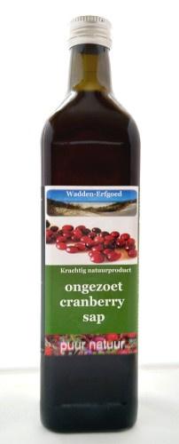 Cranberrysap gezoet, 750 ml